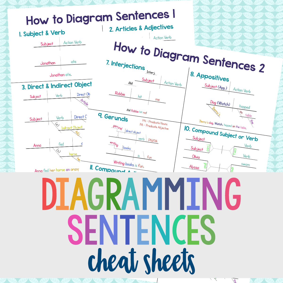 Diagramming cheat sheets creative clever and classy diagramming cheat sheets ccuart Images