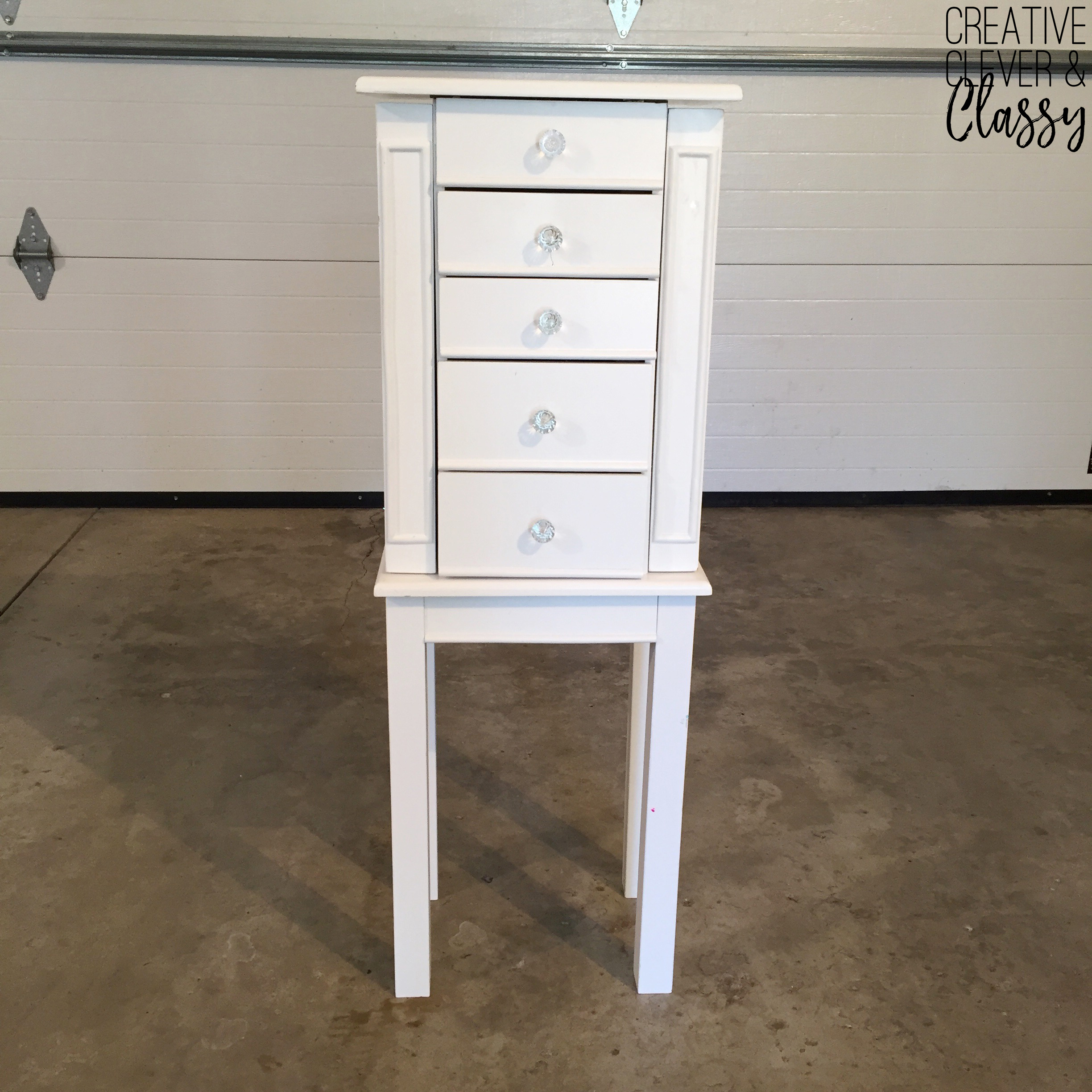 How To Paint Furniture: DIY Jewelry Armoire