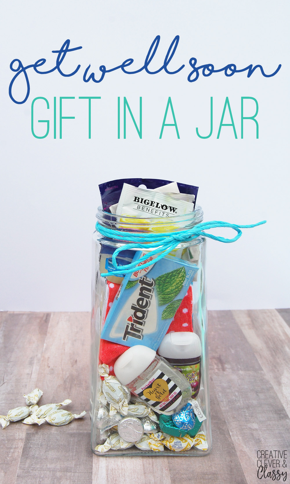 easy diy get well soon gift in a jar gift idea