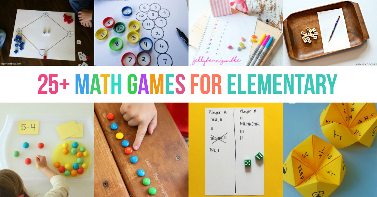 25+ Fun DIY Math Games for Elementary Students